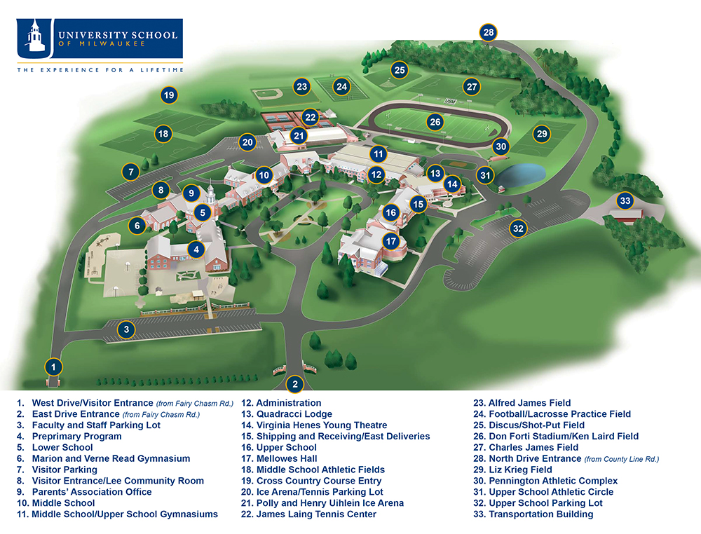 2016-usm-campus-map - Wisconsin Premier Volleyball Club