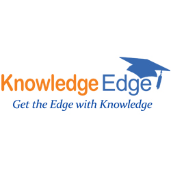 knowledge edge tutoring logo orange and blue